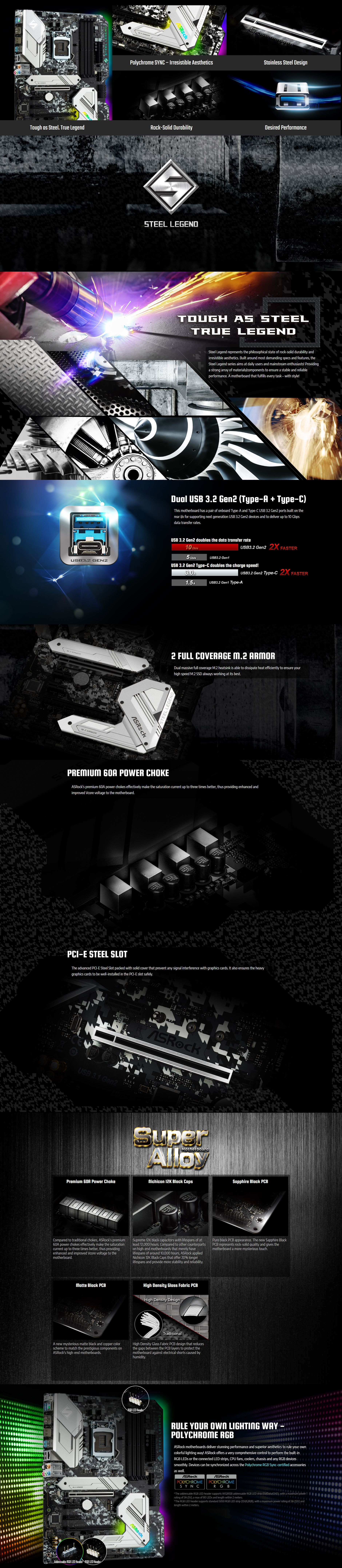 ASRock Z390-Steel-Legend LGA1151 Motherboard