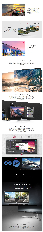 LG 34in UltraWide FHD+ IPS Monitor (34WK650-W)