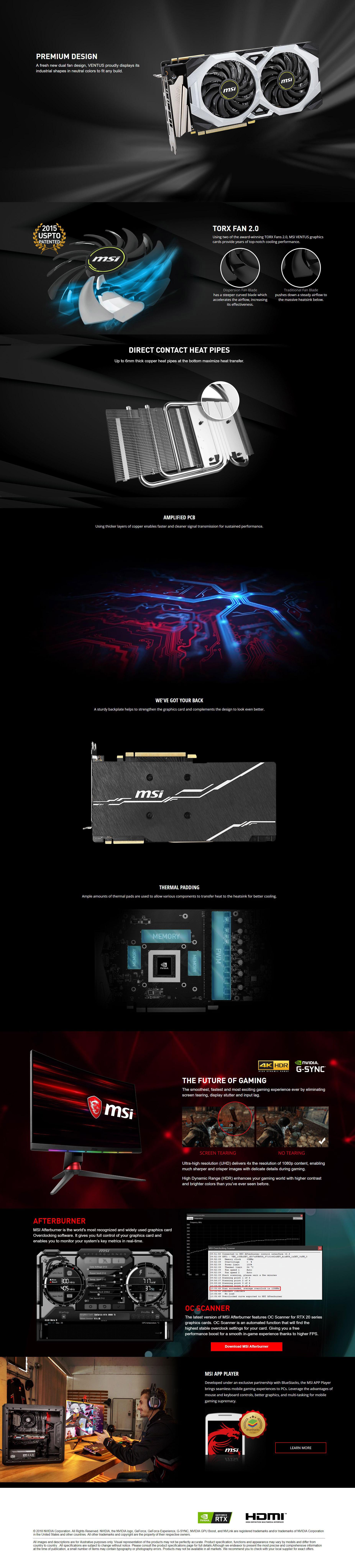 MSI Geforce RTX 2070 SUPER VENTUS OC Graphics Card
