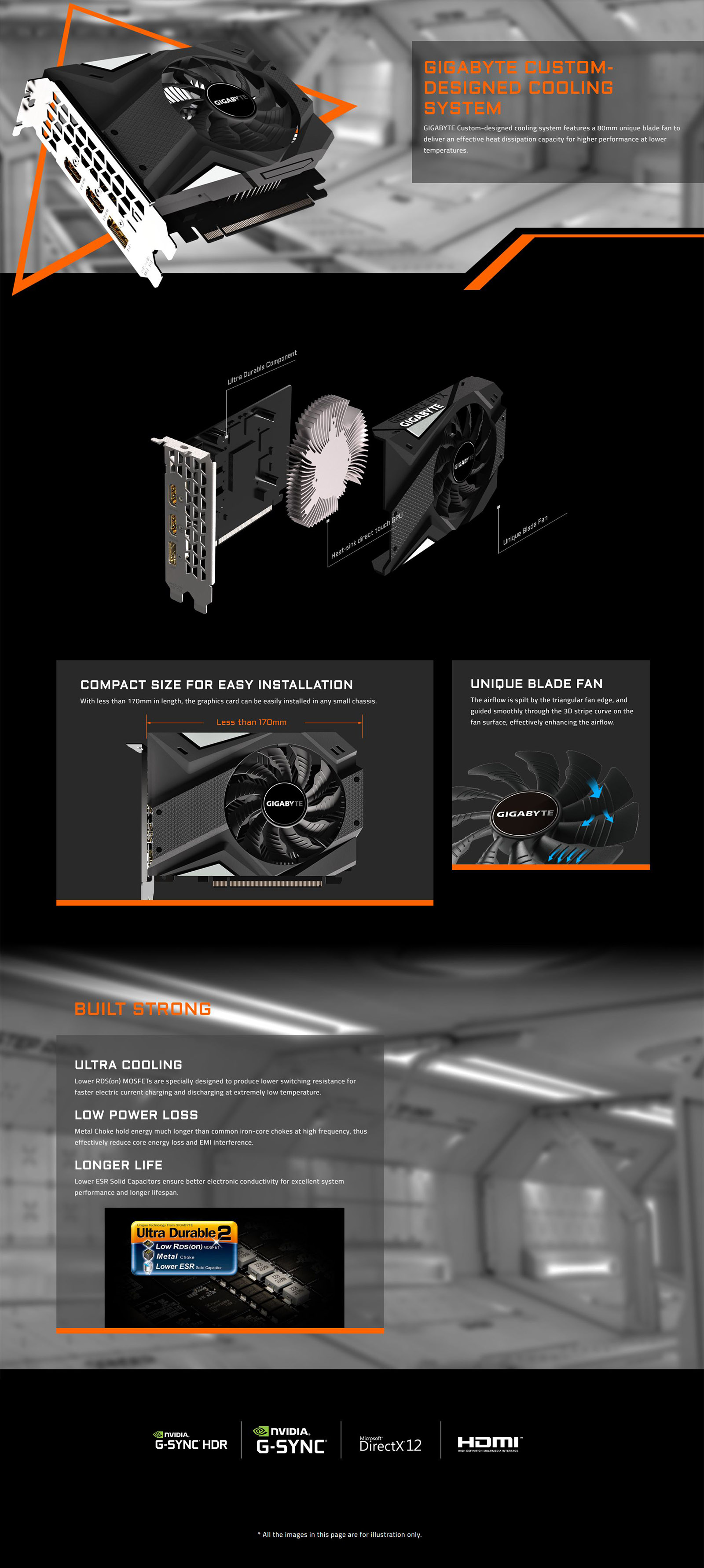 Gigabyte GeForce GTX 1650 Mini ITX 4G OC Graphics Card