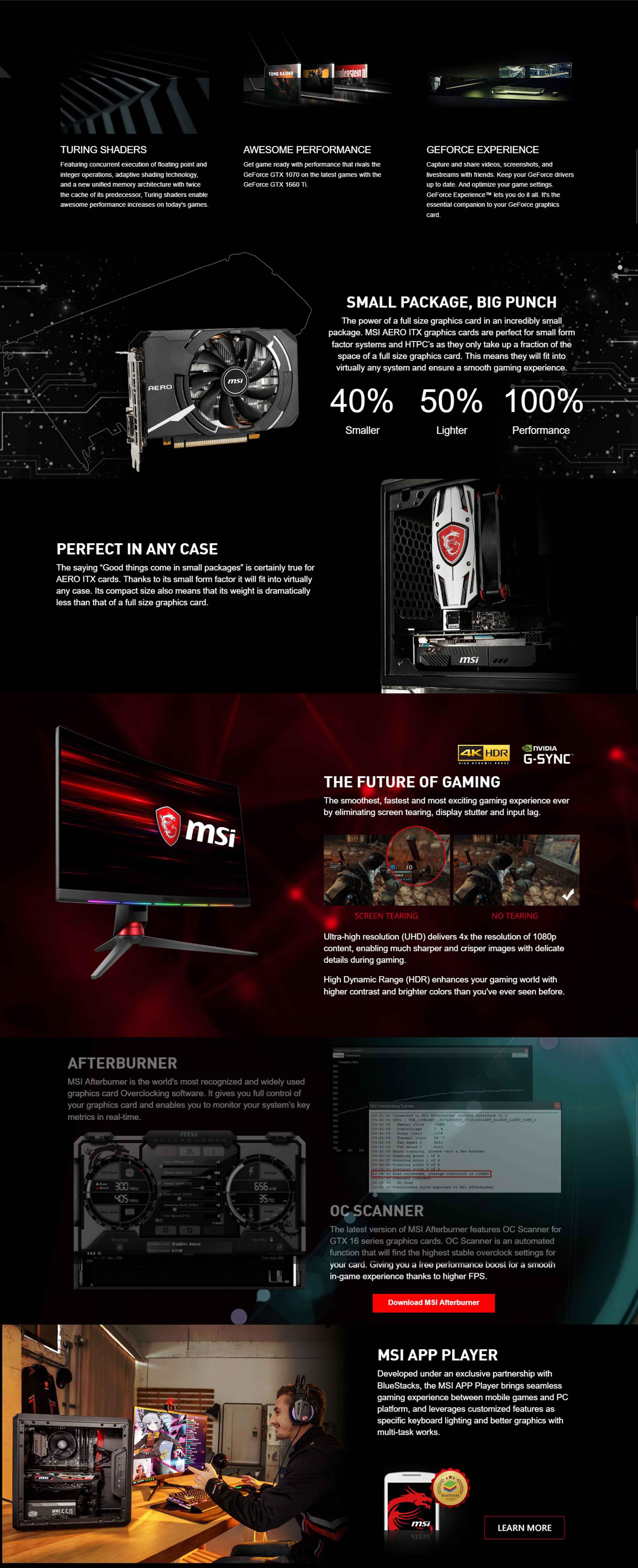 MSI GeForce GTX 1660 Ti Aero ITX 6G OC Graphics Card