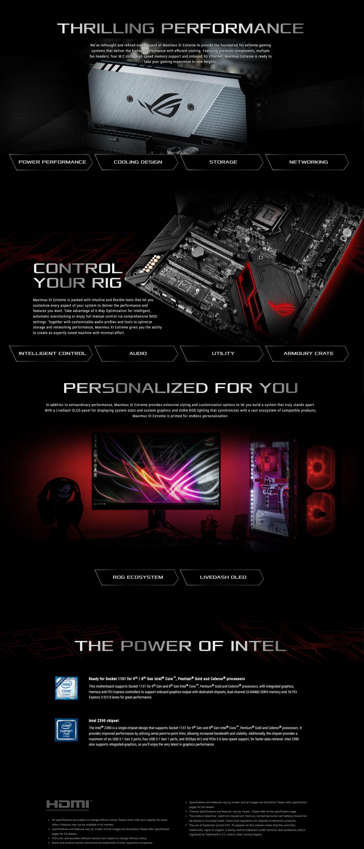 Asus ROG MAXIMUS XI EXTREME LGA 1151 E-ATX Motherboard