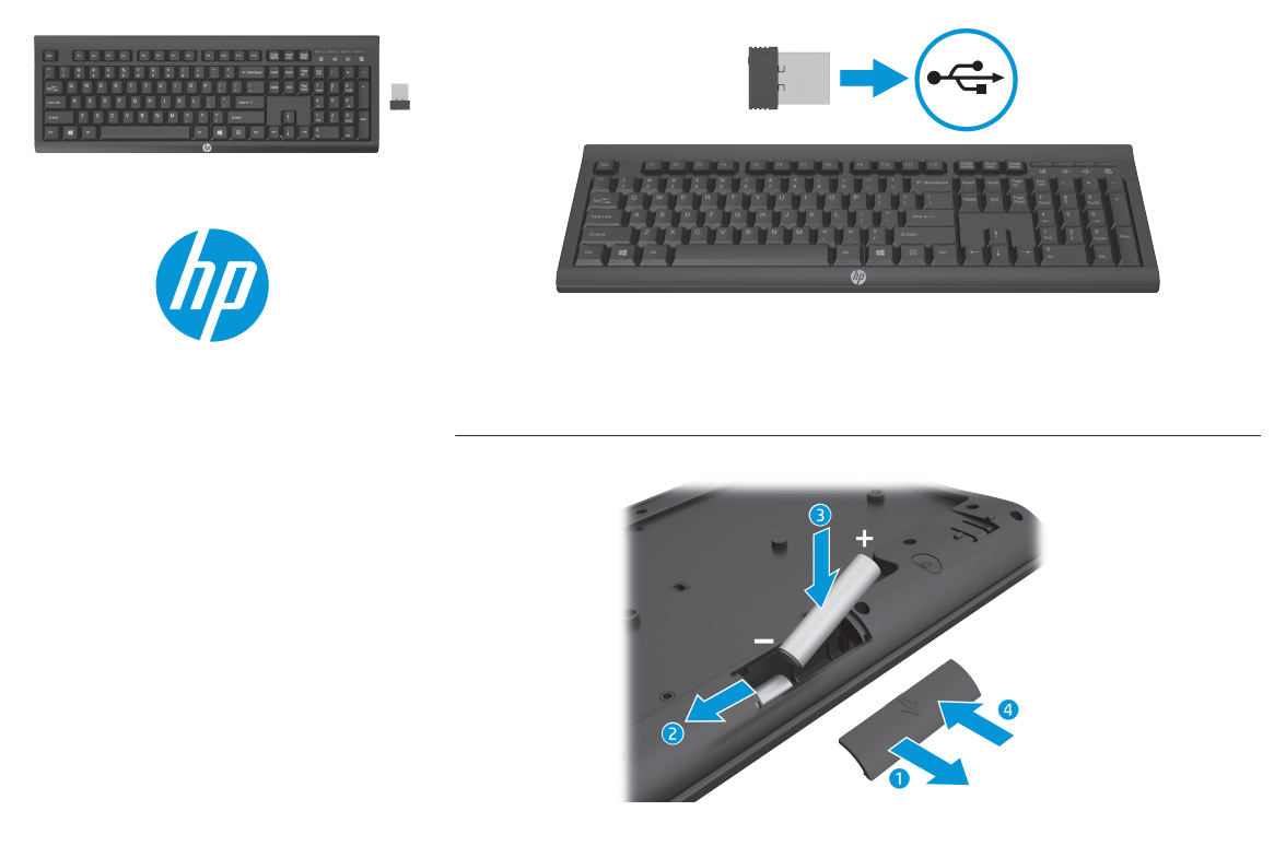 Hp K2500 Wireless Keyboard Umart Com Au