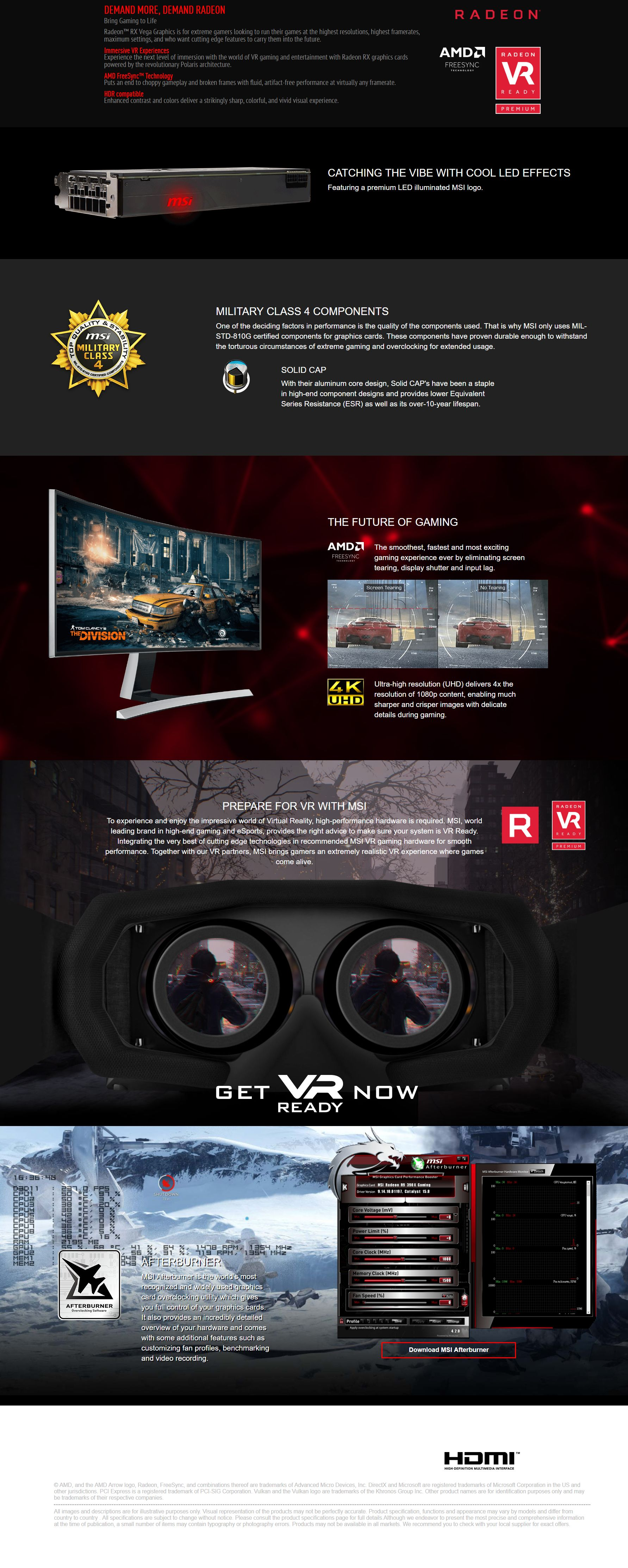 MSI Radeon RX VEGA 64 Air Boost 8G OC