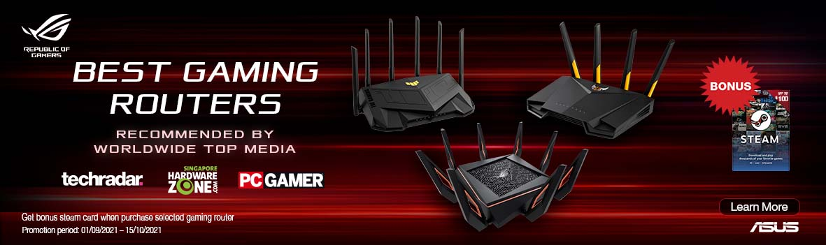 Asus WLAN Gaming Router Steam Card Promotion
