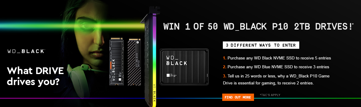 Win 1 of 50 WD_Black P10 Drives!