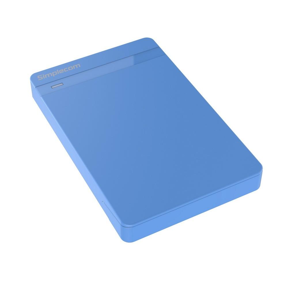 Simplecom SE203BU Tool Free 2.5inch USB 3.0 Hard Drive Enclosure Blue