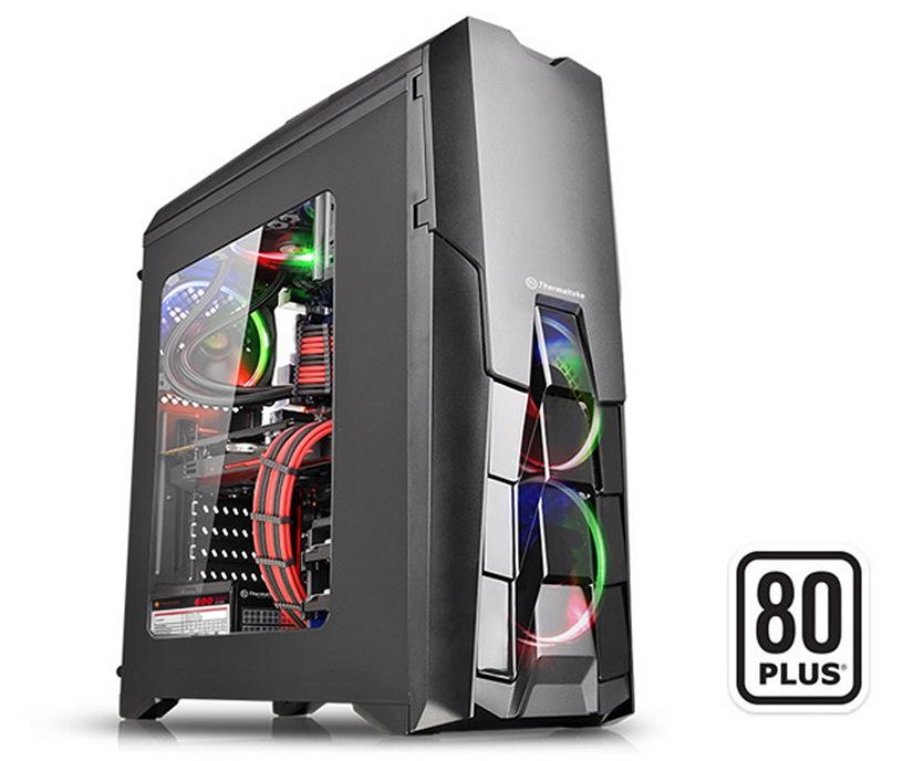 Thermaltake Black Versa N25 Mid Tower Chassis & 600w 80Plus PSU