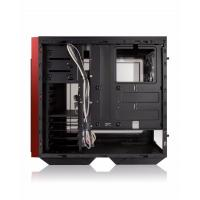 INWIN 503 Black MidTower w Sliding Tempered Glass Front Cover Window