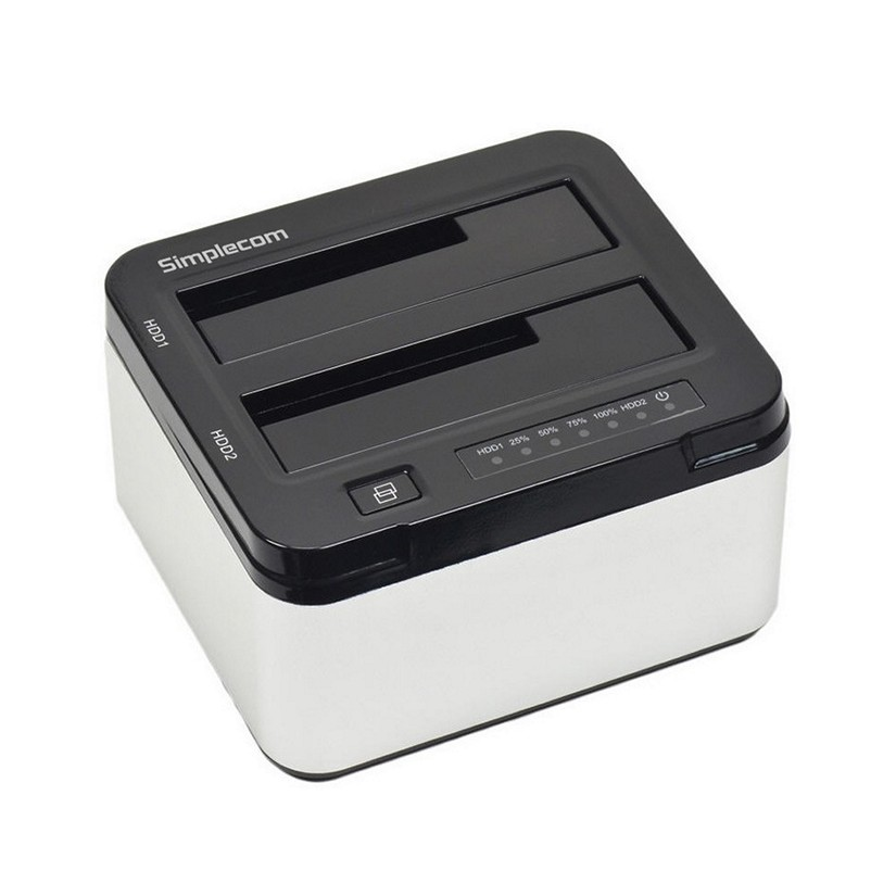 Simplecom SD322 Dual Bay USB 3.0 Aluminium Docking Station for 2.5,3.5 Hard Drive