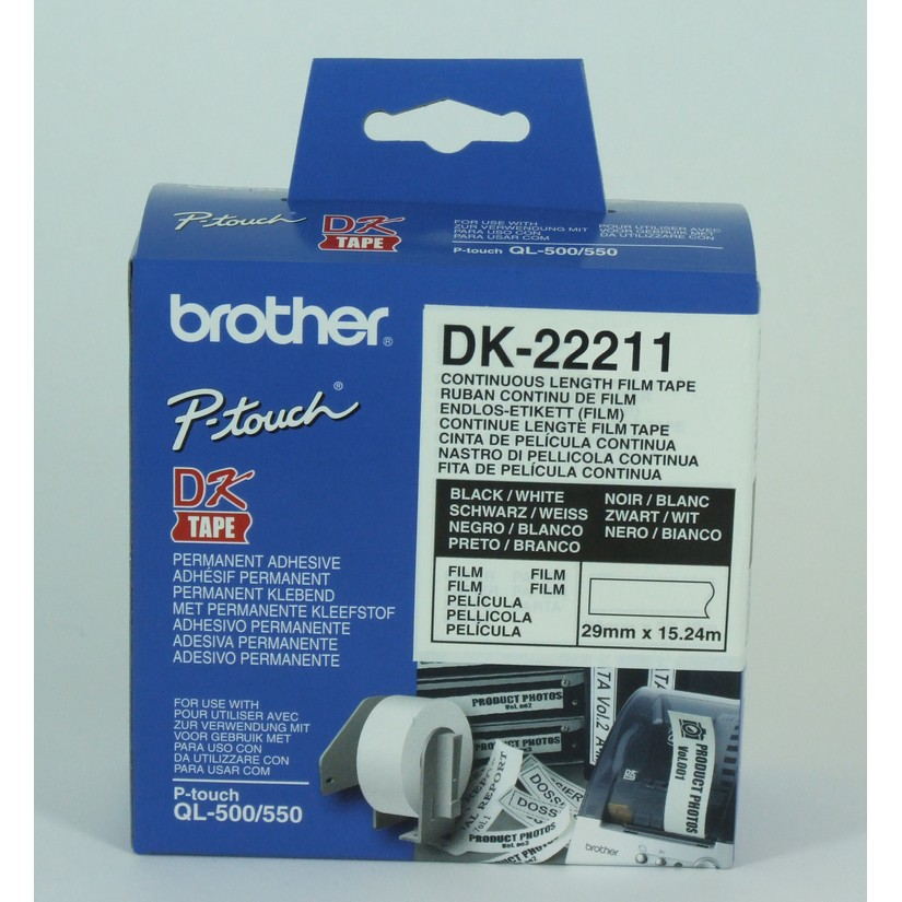 Brother DK22211 WHITE CONTINUOUS FILM ROLL 29MM X 15.24M