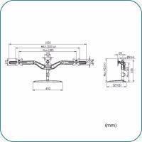 Aavara AV-DS300 Triple 17-24 Inch Monitor Stand