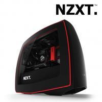 NZXT Manta Mini ITX Case Matt Black + Red Gaming Case