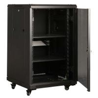 LinkBasic 18RU 800mm Depth Server Rack perforated steel mesh Door with 4x240v Fans and 8-Port 10A PD