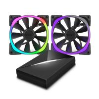 NZXT Aer RGB 120mm Fan Dual Pack with Hue+ Lighting Kit
