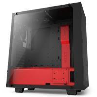 NZXT S340 Elite Matte Black/Red ATX Case, No PSU
