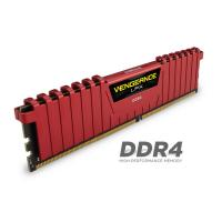 Corsair 16GB (2x8GB) CMK16GX4M2A2400C16R Vengeance LPX  DDR4 2400MHz  Red