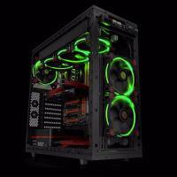 Thermaltake Riing 12 Green High Static Pressure LED Radiator 120mm Fan (3 Fans Pack)