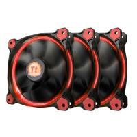 Thermaltake Riing 12 Red High Static Pressure LED Radiator 120mm Fan (3 Fans Pack)