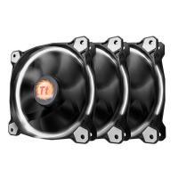 Thermaltake Riing 12 White High Static Pressure LED Radiator 120mm Fan (3 Fans Pack)