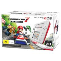Nintendo 2DS Console White Red Mario Kart7