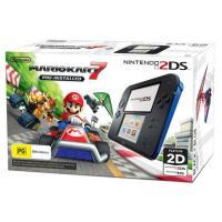 Nintendo 2DS Console Black Blue Mario Kart7