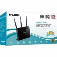 D-Link DVA-2800 TalkBox2800 - Dual Band Wireless AC1600 Gigabit ADSL2+/VDSL2 Modem Router with VoIP