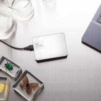 Western Digital 1TB White My Passport Ultra Portable External Hard Drive - USB 3.0