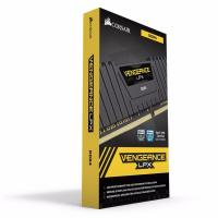Corsair 16GB (4x4GB) CMK16GX4M4A2400C16 DDR4 2400MHz Vengeance LPX Black
