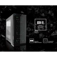 Casecom RSM-91-Trio ATX No PSU Front Tempered Glass