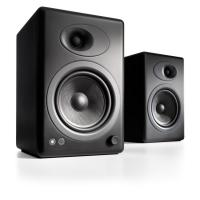 Audioengine 5+ Powered Bookshelf Speakers Pair Satin Black