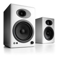 Audioengine 5+ Powered Bookshelf Speakers Pair Hi-Gloss White