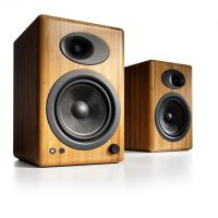 Audioengine 5+ Powered Bookshelf Speakers Pair Solid Bamboo
