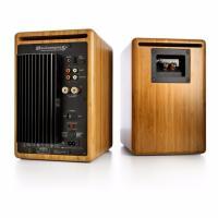 Audioengine 5+ Powered Bookshelf Speakers Pair Solid Bamboo
