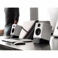 Audioengine 2+ Powered Desktop Speakers Pair Hi-Gloss White