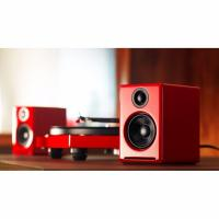 Audioengine 2+ Powered Desktop Speakers Pair Hi-Gloss Red