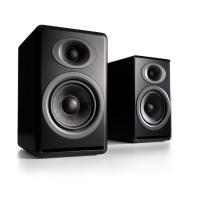 Audioengine P4 Passive Bookshelf Speakers Pair Satin Black