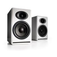 Audioengine P4 Passive Bookshelf Speakers Pair Hi-Gloss White