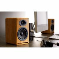 Audioengine P4 Passive Bookshelf Speakers Pair Solid Bamboo