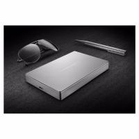LaCie 4TB Porsche Design USB-C 21mm Thick Mobile Hard Drive - Silver