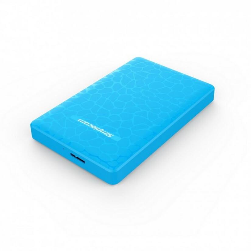 Simplecom SE101-BL Tool Free 2.5inch SATA to USB 3.0 HDD/SSD Enclosure Blue
