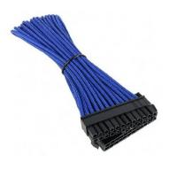 BitFenix Sleeved 24-Pin ATX Extension Cable, 30CM, BLUE/BLACK