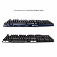 RII RK100 Mechnical Feeling USB Keyboard 104 Key 3 Color Led