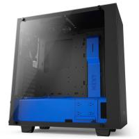 NZXT S340 Elite Matte Black/Blue ATX Case, No PSU