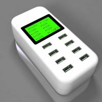 Simplecom CU880 8 Port Smart USB AC Charger w LCD Display