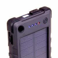 Laser 8000mAh Solar Power Bank with LED Torch