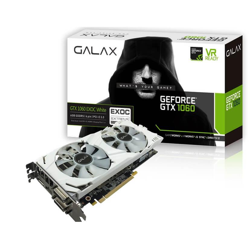 Galax GeForce GTX 1060 EX OC White 6GB DDR5 Video Card
