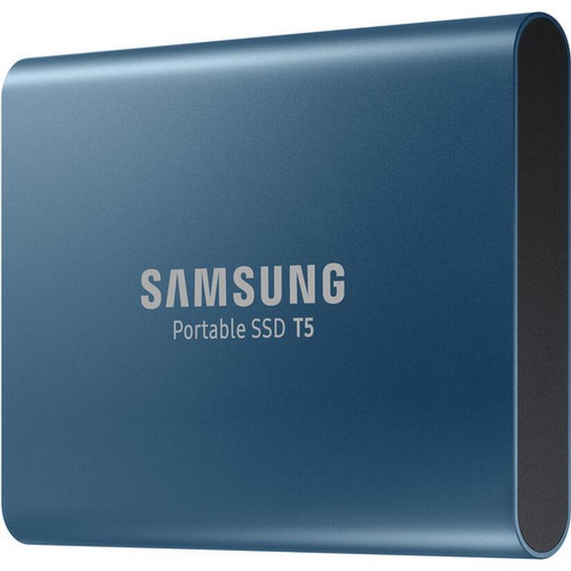 Samsung 500GB T5 External SSD Blue