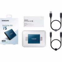 Samsung 500GB T5 External SSD Blue