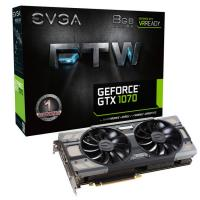 EVGA GeForce GTX 1070 FTW GAMING, 08G-P4-6276-KR, 8GB GDDR5, ACX 3.0 & RGB LED